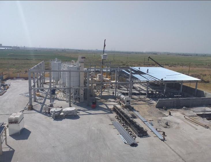 Uzbekistan Drying, Crushing, Screening  & Automatic Bag Lining ( 2 line Chemicals Plant ) 24 ton/h