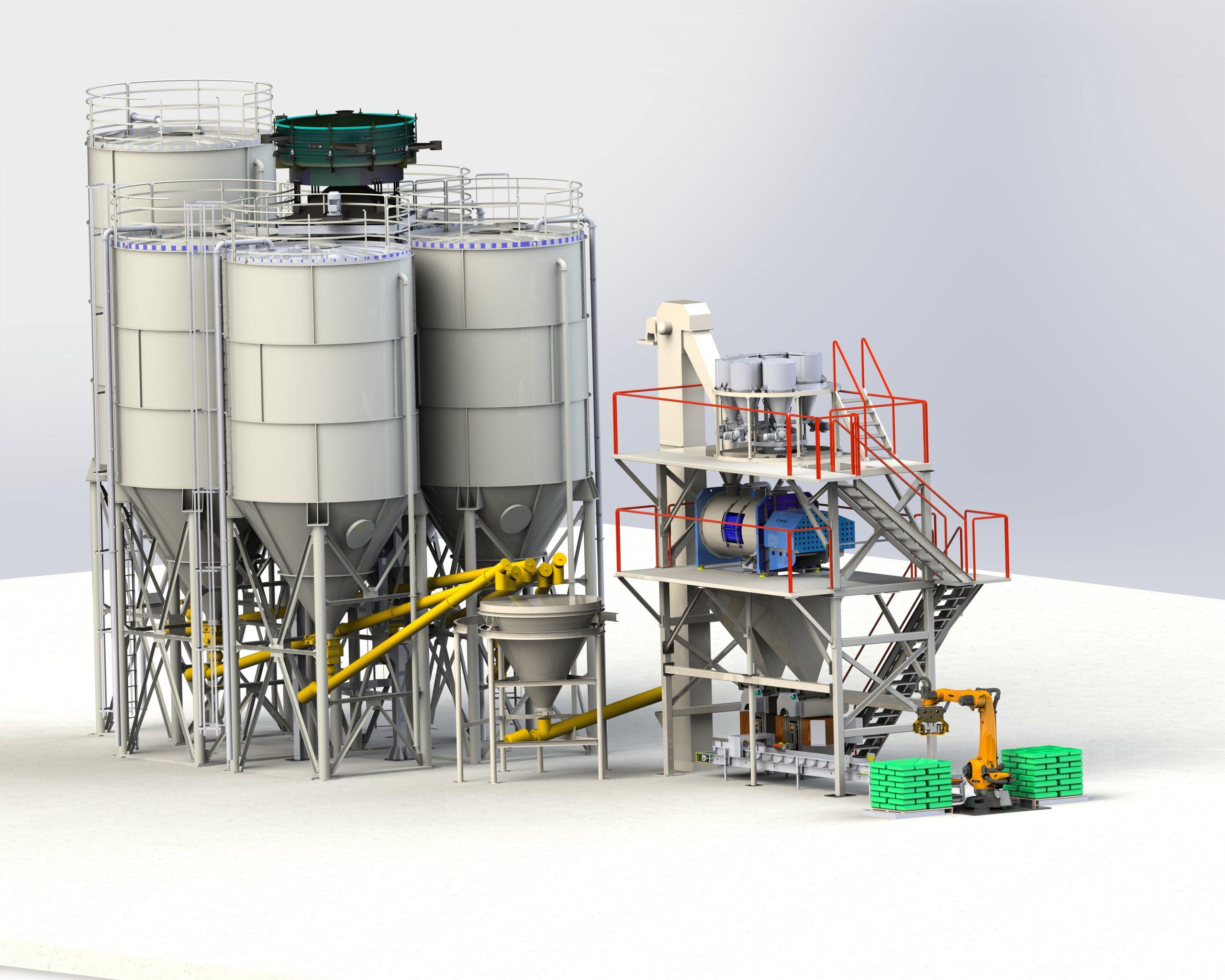 Yapı kimyasalları tesisi 12-20 ton/s